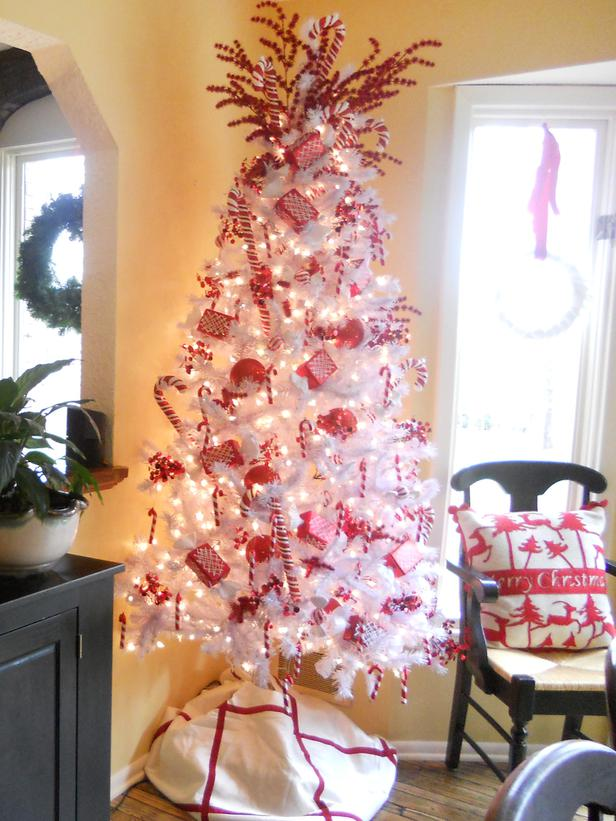 Candy Cane Tree Decoration: Source - Top Candy Cane Christmas Decorations Ideas - Christmas Celebration