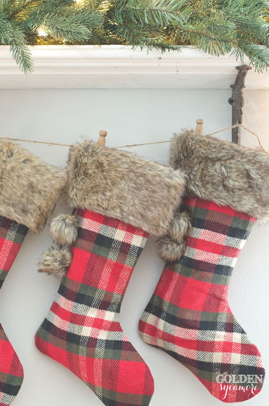 plaid stockings decoration source