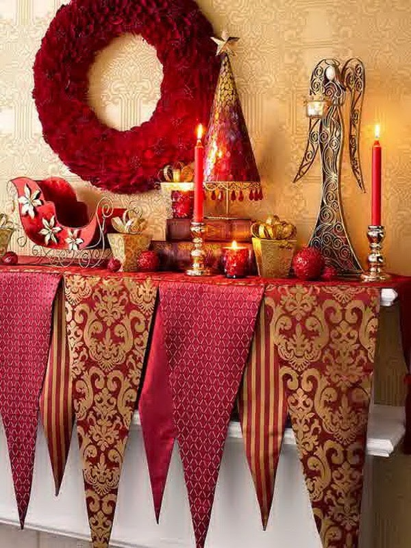 source - Red And Gold Christmas Decorations