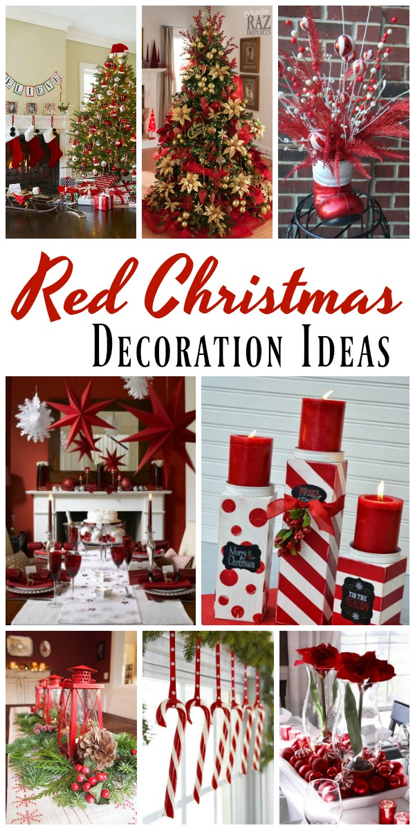 you can use red for the mantelpiece walls table tableware and centerpieces as well so this christmas make your house merry and bright by decorating it