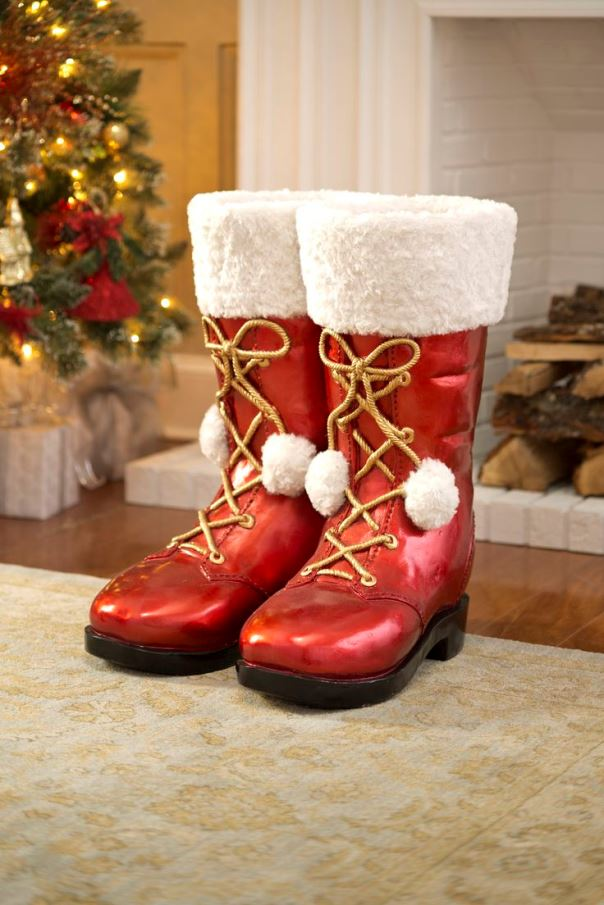 1. Traditional Santa Boot Decoration