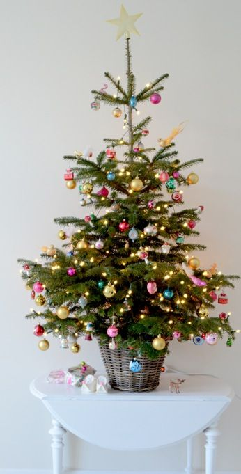 source - Small Decorated Christmas Trees