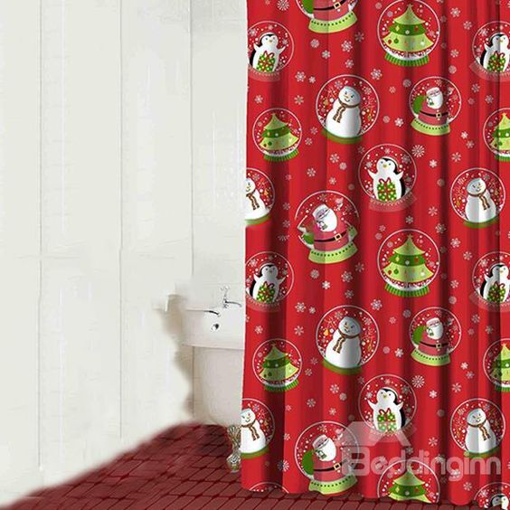 14. Awesome Red Christmas Curtain
