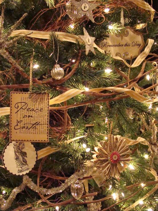 vintage twigs christmas tree source