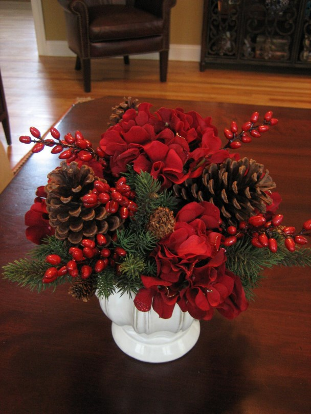Floral Table Decorations For Christmas  18 Chrismas Wedding Shabby Centerpiece