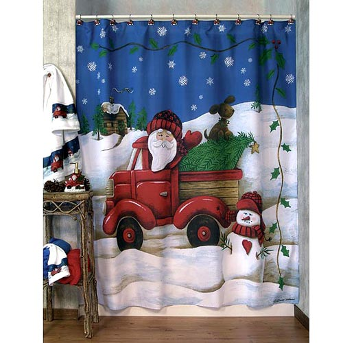 Top 40 Beautiful Designs Of Christmas Bathroom Curtains