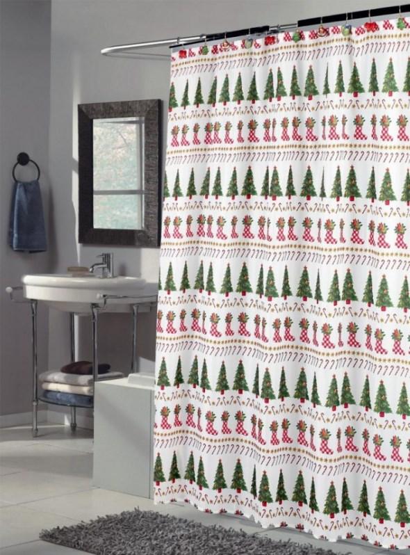 Top 40 Beautiful Designs Of Christmas Bathroom Curtains ...