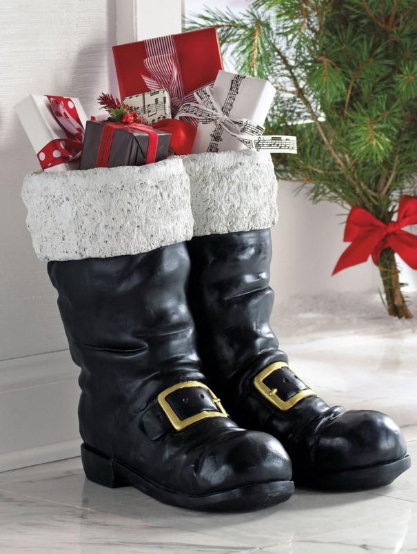 2. Black Extra Size Santa Boots