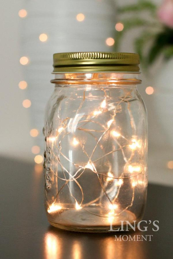 Fairy Light Glass Table Decoration