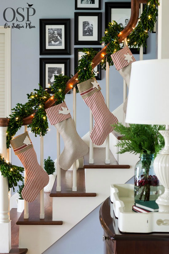decorate with stockings source