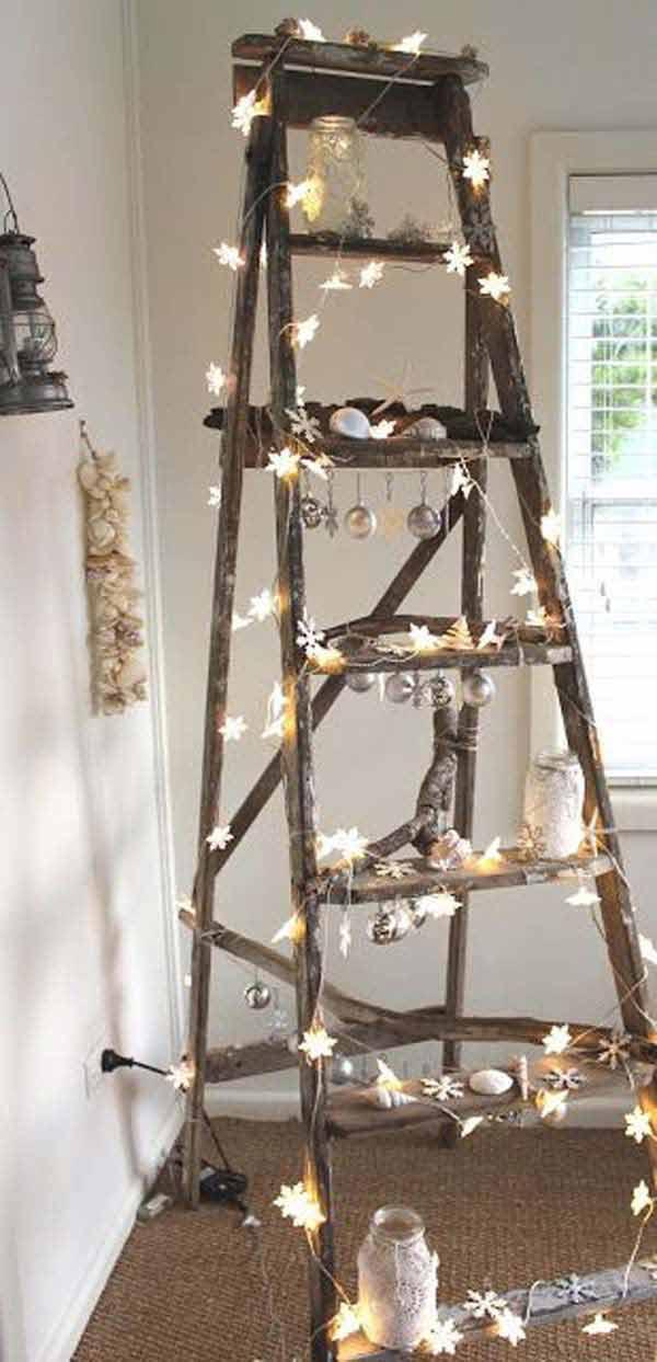 20. Vintage Ladder Tree Decoration