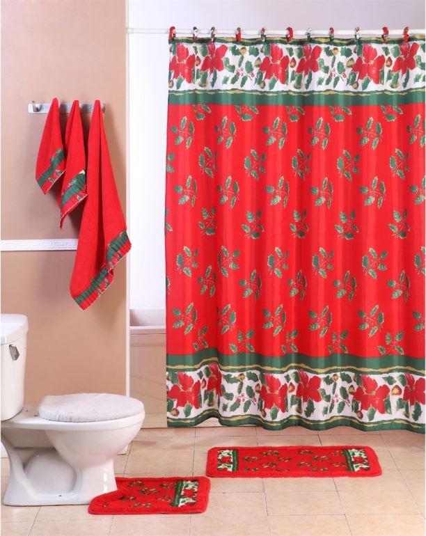 Christmas bathroom curtains