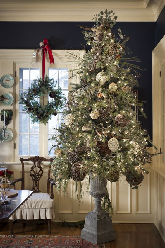21. Vintage Christmas Tree With Urn