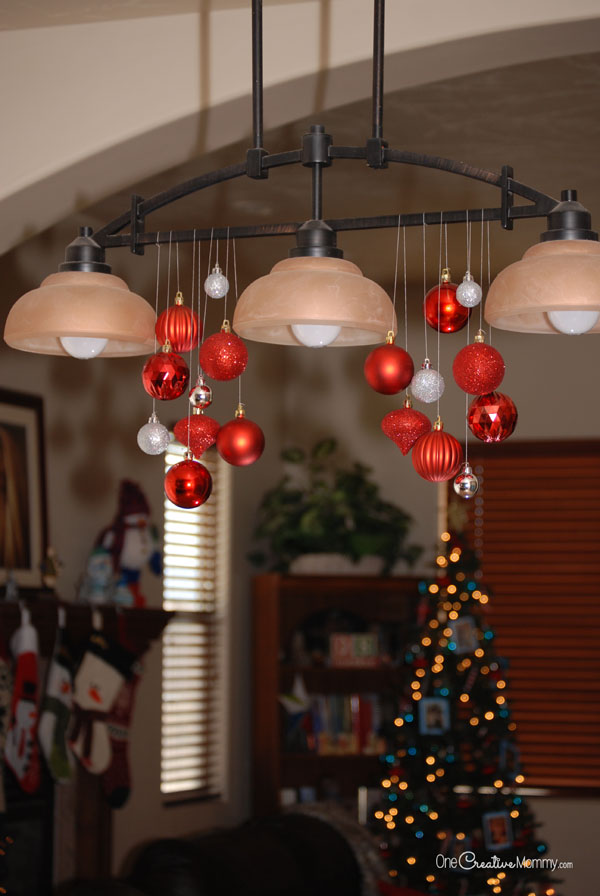 httpbloghomedepotcomchristmas decorating ideas - How To Decorate A Chandelier For Christmas
