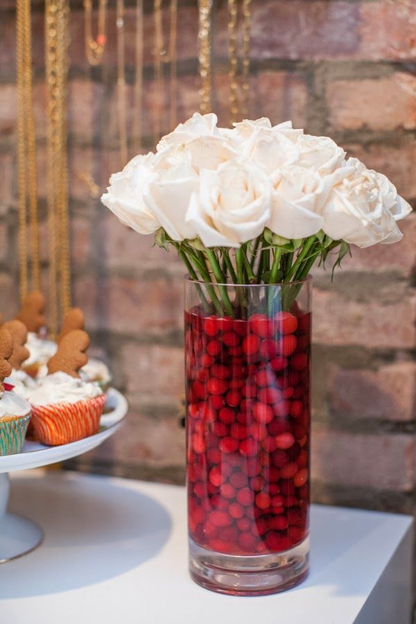 Top christmas decoration ideas using cranberries