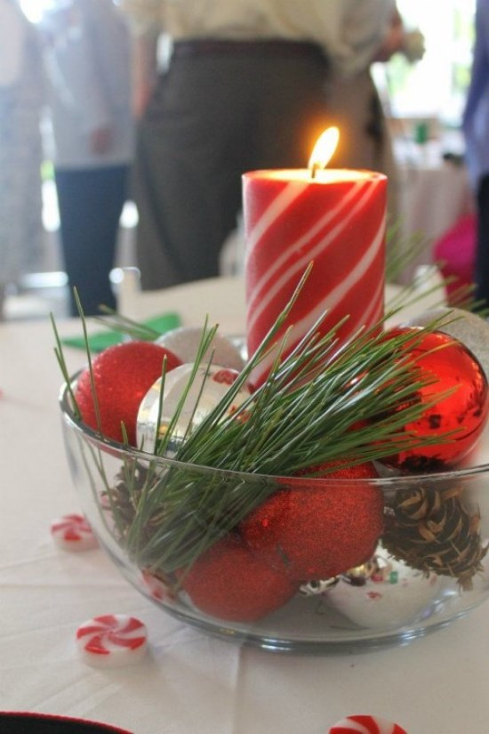Easy Christmas Wedding Centerpieces: Source