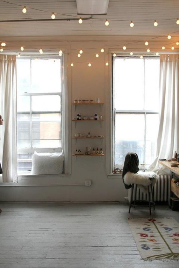 Hanging Christmas Lights In Bedroom
