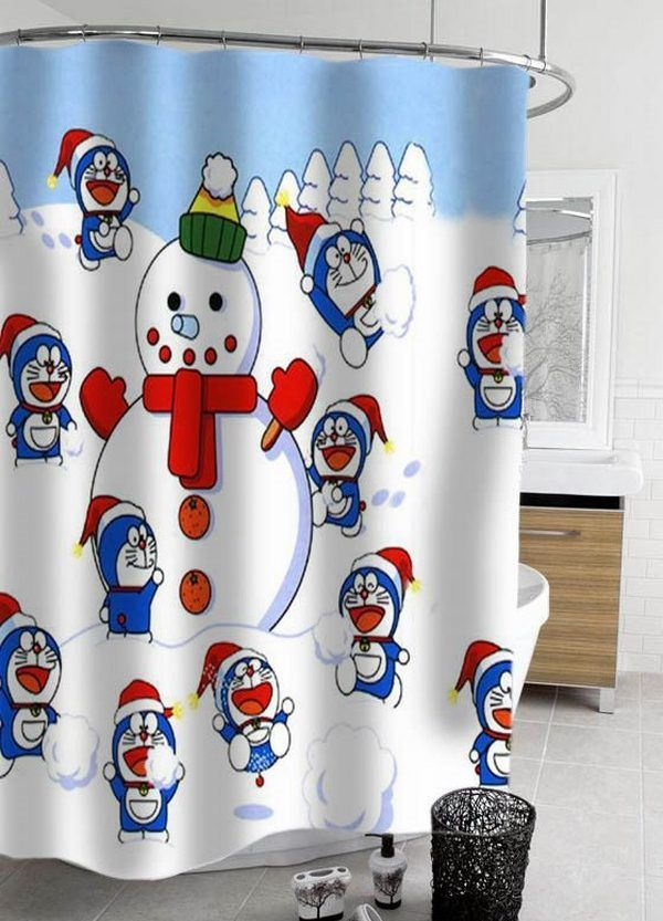 Top 40 Beautiful Designs Of Christmas Bathroom Curtains ...