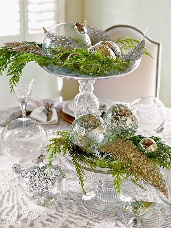green christmas decorations source