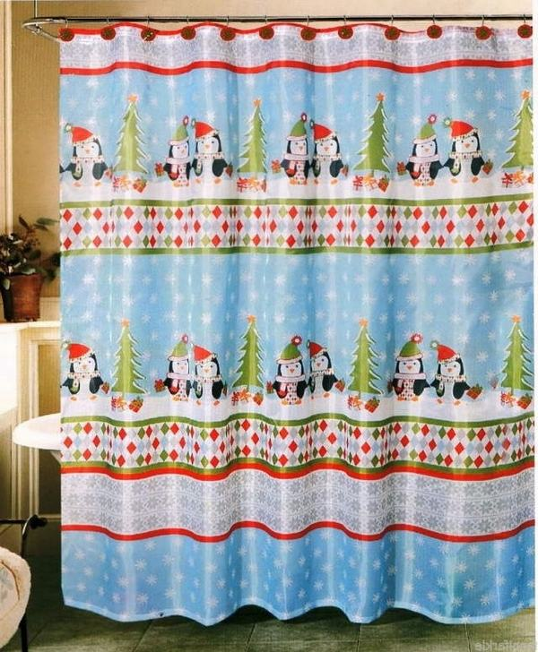 Cute Christmas Curtain: Source
