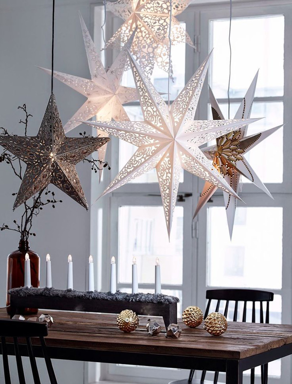 christmas star decoration ideas for your dining hall - Christmas Star Decorations