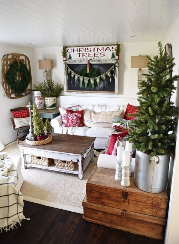 shabby chic home decoration source - Chic Christmas Decorations