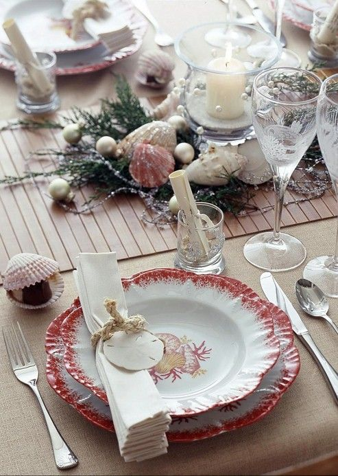 beach themed dining table source