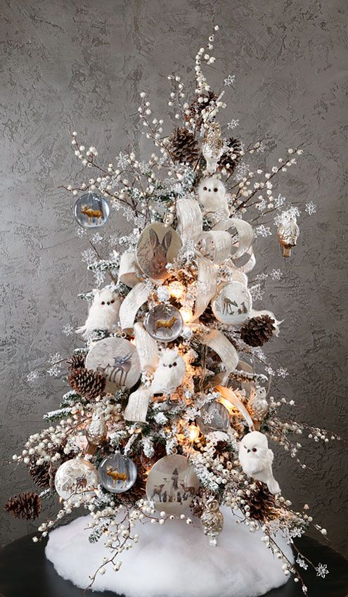 source source heres a beautifully decorated christmas tree - Christmas Tree Decorated With Owls