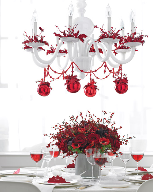 Top 40 christmas chandelier decoration ideas christmas celebration red christmas chandelier source aloadofball Image collections