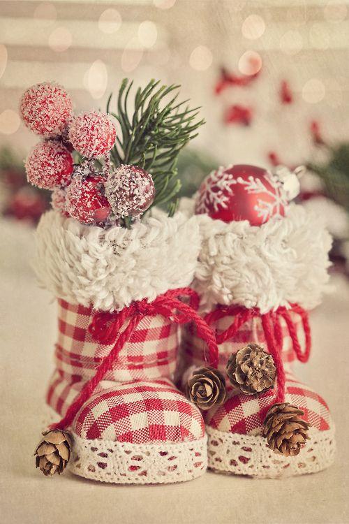 5. Handmade Santa Boots