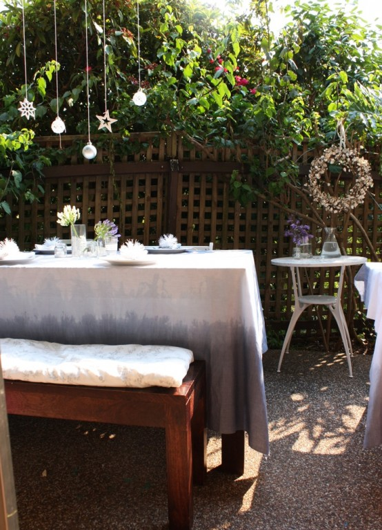 Most Beautiful Outdoor Christmas Table Setting Ideas