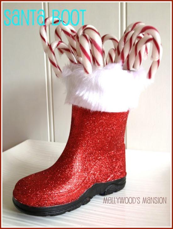 7. DIY Santa Boots