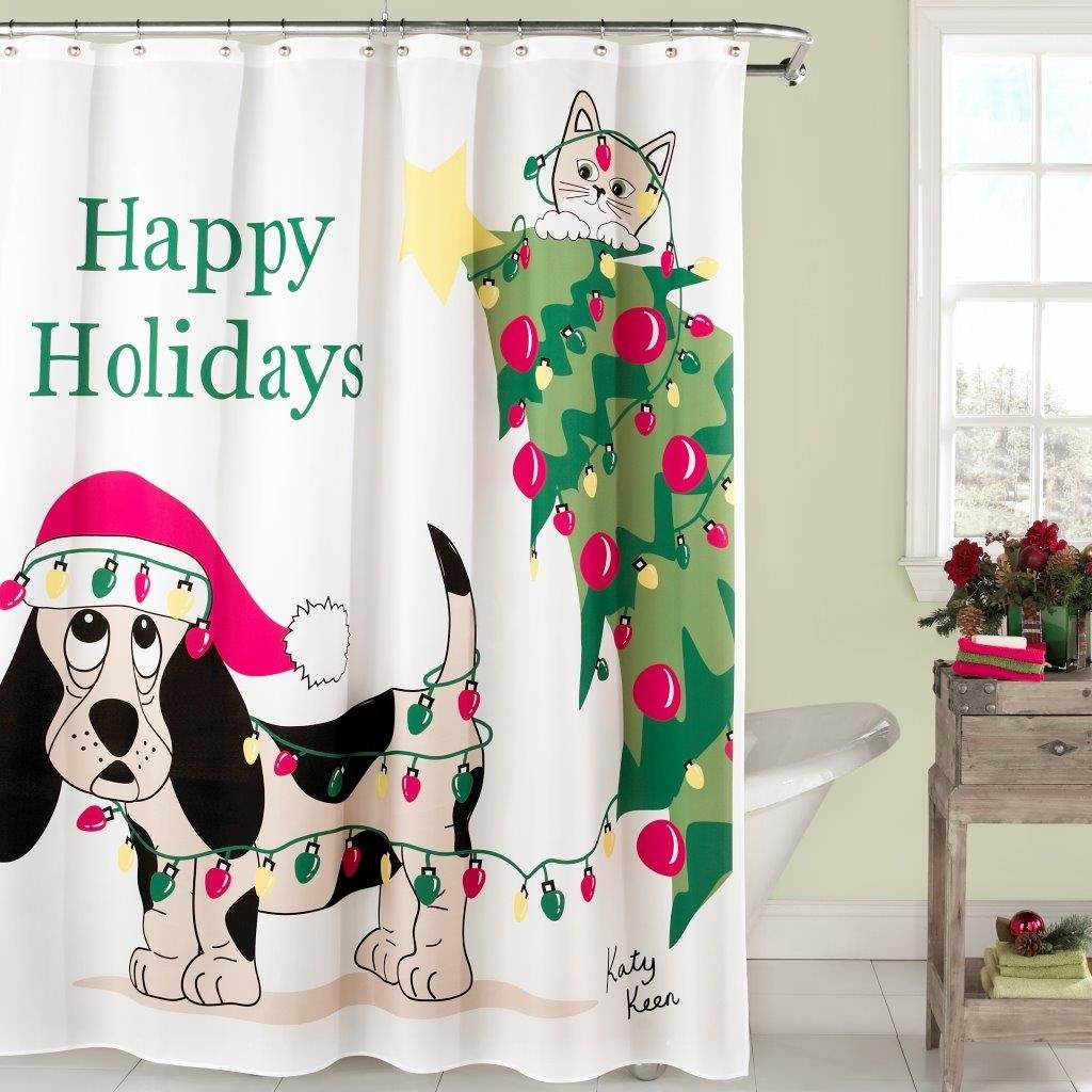 8. Holiday Mischief Curtain