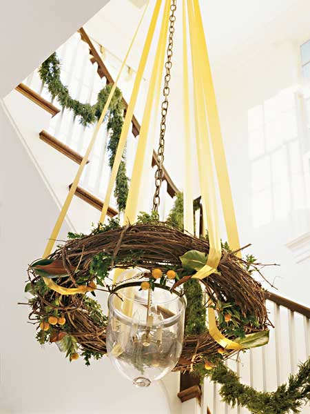 source - How To Decorate A Chandelier For Christmas