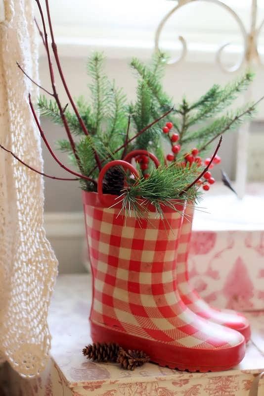 9. Garden Decor Santa Boots
