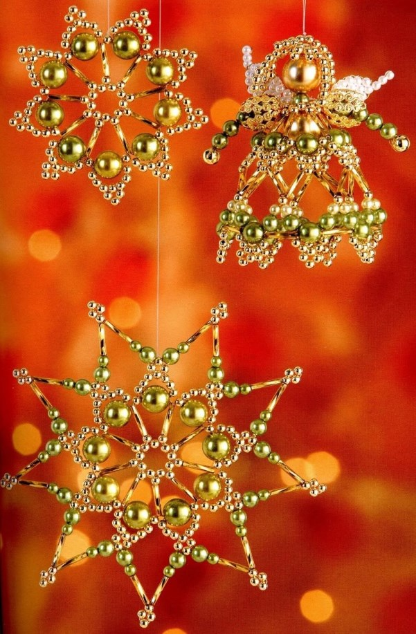 Beaded Christmas Ornaments Decoration. Source - Top 40 Beaded Christmas Decorations - Christmas Celebration - All