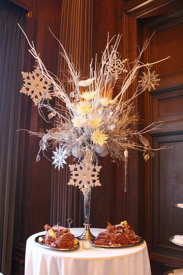 Winter wedding centerpieces ornaments imgkid