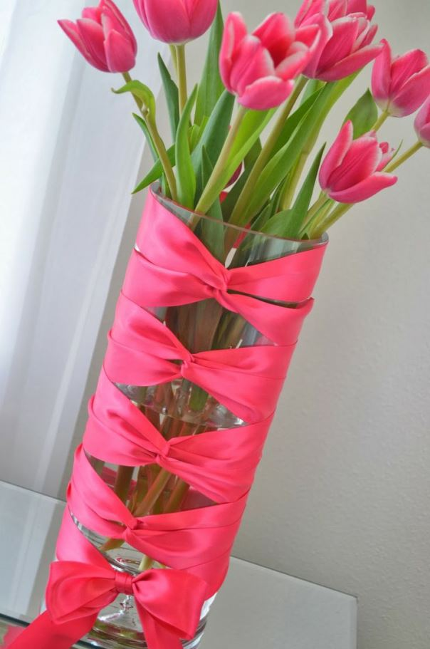 Top 40 fascinating christmas decorations using ribbon christmas celebrations - Great decorative flower vase designs ...