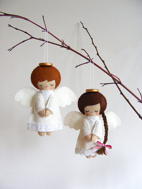 Angel Ornaments For Christmas Tree.Divine And Beautiful Angel Christmas Decoration Ideas