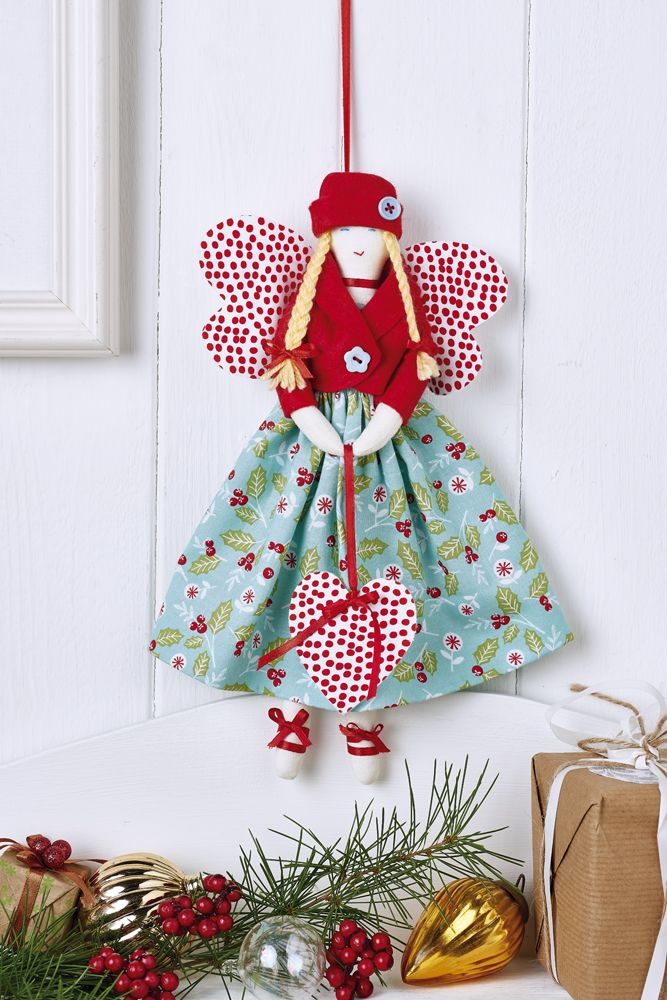 Charming Christmas Fabric Craft Ideas Part - 7: A Country Side Angel:
