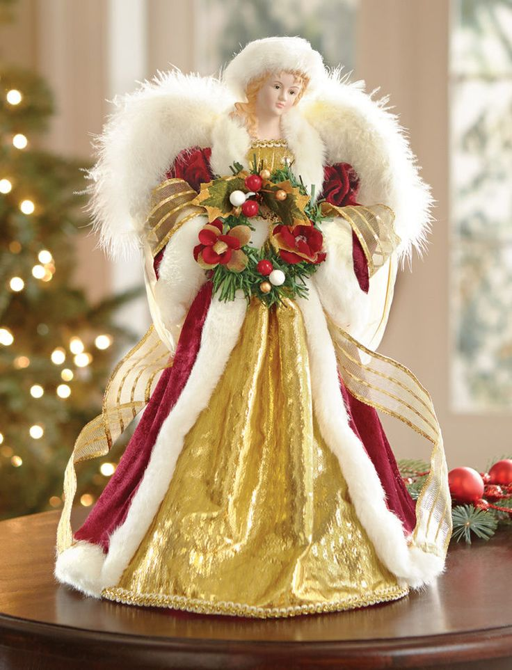 a majestic figurine - A Christmas Angel