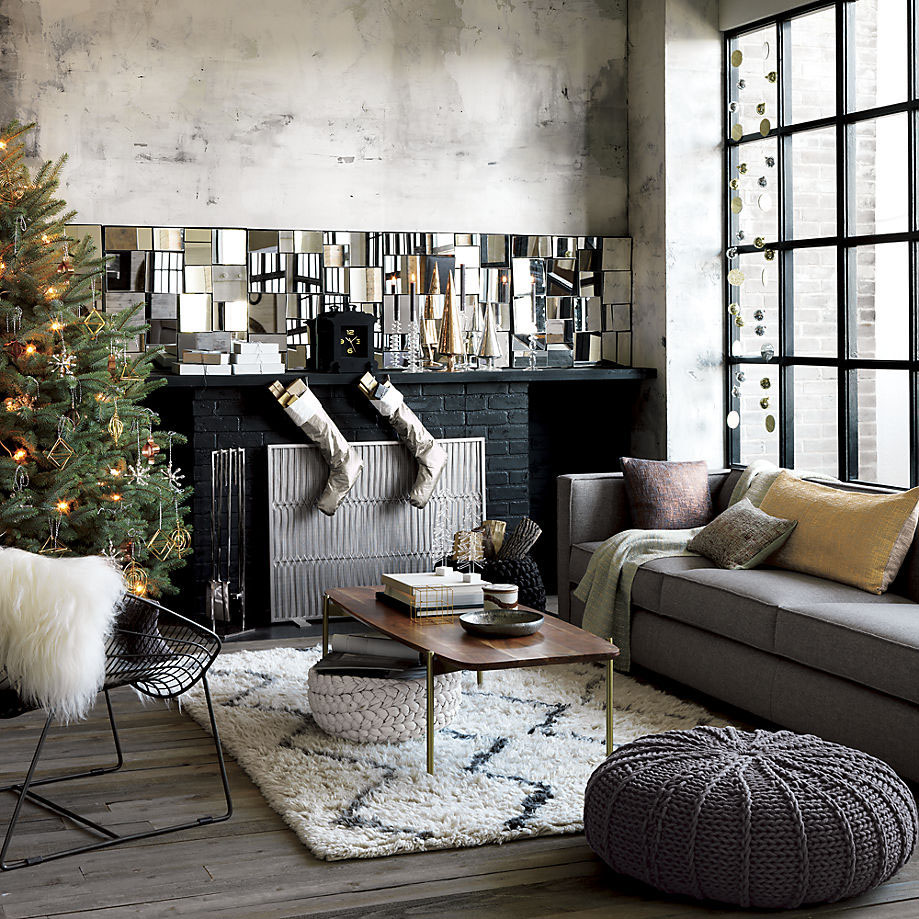 steel and gray this is one of our most favorite contemporary christmas decoration ideas - Modern Christmas Decorating Ideas