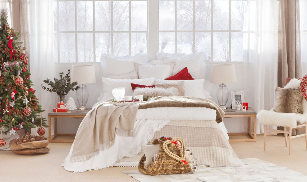 contemporary christmas decoration idea for your bedroom