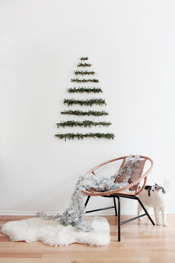 minimalist christmas tree - Modern Contemporary Christmas Decorations
