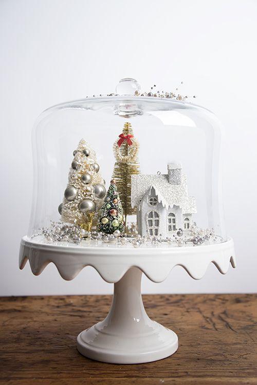 Create A Wonderland & Stunning Glass Christmas Decoration Ideas - Christmas Celebration ...