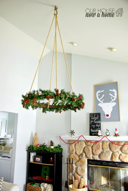 beautiful hanging christmas decorations christmas celebrationmake this hanging wreath from garland and wine barrel to transform your living room into a dream christmas space
