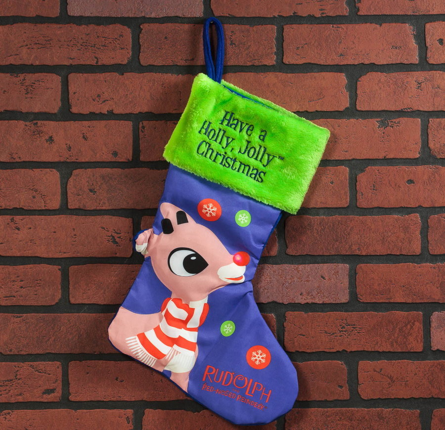 rudolph reindeer light up christmas stocking - Rudolph And Friends Christmas Decorations