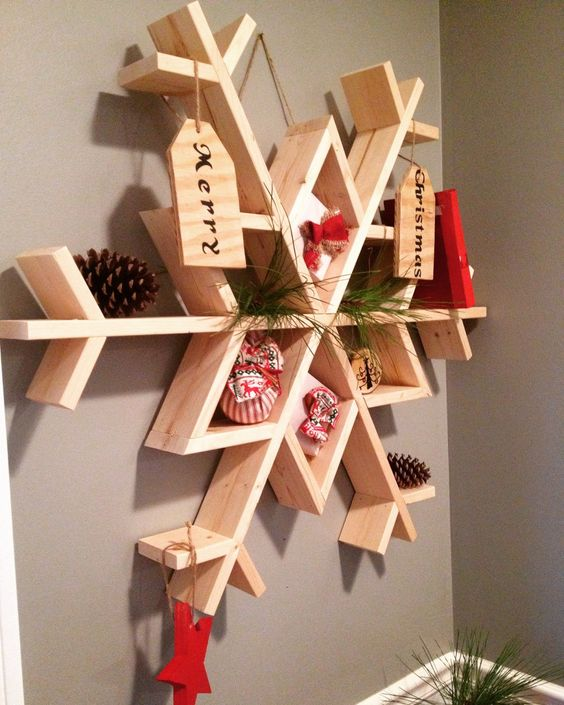 Hereu0027s A Wonderful DIY For You To Indulge In This Christmas With Your  Children. You Can Decorate The Shelf In A Similar Manner Or Use Your  Creativity To ...