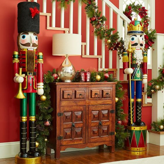 nutcrackers have been featured in christmas decoration ever since the ballet the nutcracker released the life sized nutcrackers are sure to give a royal
