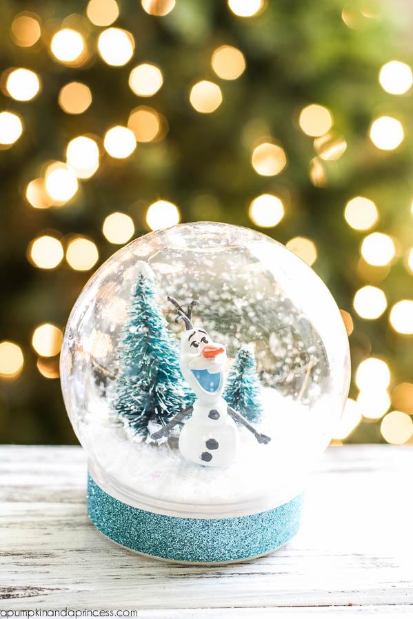 olaf snow globe - Frozen Christmas Tree Ornaments